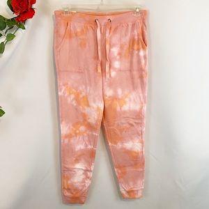 🌼NWT GreenTea Pink Orange Tie Dye Sweatpants
